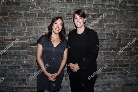 Stock Image of Director Karyn Kusama, Megan Ellison, Founder of Annapurna Pictures