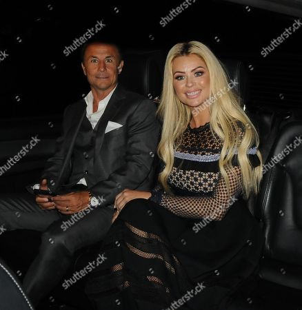 Nicola McLean and Dennis Wise leaving the Dorchester Hotel