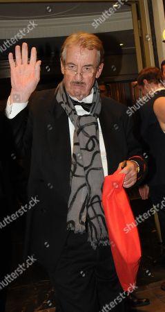 John Challis leaving the Dorchester Hotel