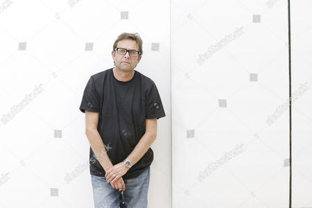 Editorial image of Artist Callum Innes at his studio in Edinburgh, Scotland, Britain - 29 Jul 2009