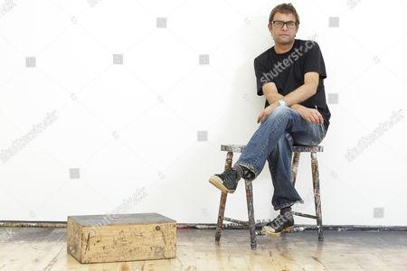 Editorial photo of Artist Callum Innes at his studio in Edinburgh, Scotland, Britain - 29 Jul 2009