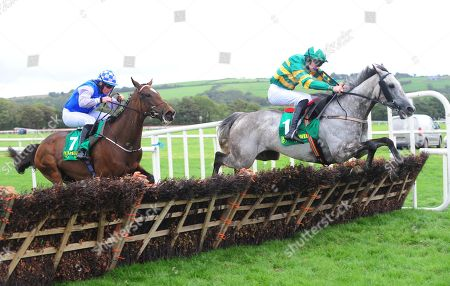 Listowel BAY HILL & Liam McKenna jump the last to win the Adare Manor Opportunity Handicap Hurdle from MISTY MILLIE & Danny Hand.