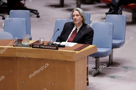 Human Rights Activist John Prendergast During a Security Council Meeting on Corruption today at the UN Headquarters in New York.