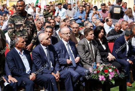 Palestinian Prime Minister Rami Hamdallah attends the Palestinian grapes festival