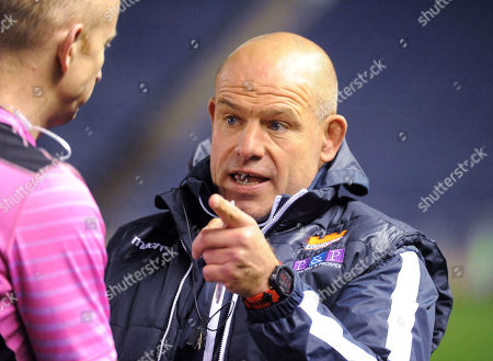 Richard Cockerill - Edinburgh head coach lambasts referee Ian Davies at the end of the match for a poor performance after awarding a penalty count of 15-4 against Connacht.