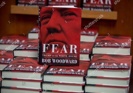 Washington Post journalist Bob Woodward's 'Fear, Trump in the White House' new books are on display at Politics and Prose in Washington, DC, USA, 11 September 2018. The new book by famous journalist and author Bob Woodward, who with Carl Bernstein wrote a book on President's Nixon administration and Watergate scandal, is claiming that President's Trump White House administration is dysfunctional.