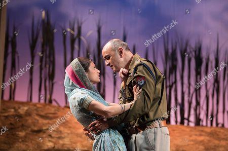 Stock Image of Anya Chalotra as Jyoti, Art Malik as The Inspector