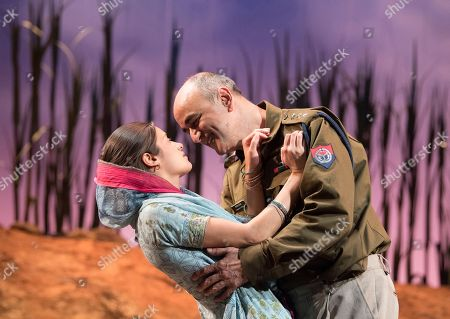 Editorial photo of 'The Village' Play performed at the Theatre Royal, Stratford E15, London,UK, 11 Sep 2018