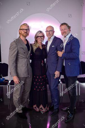Stock Photo of Alistair Guy, Fru Tholstrup, Dylan Jones and Soren Tholstrup
