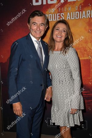 Stock Photo of Philippe Douste-Blazy et Marie Laure Douste-Blazy