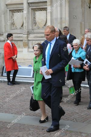 Sir Peter Halls' former wife Leslie Caron (green dress)