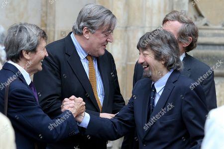 Melvyn Bragg and Sir Trevor Nunn with Stephen Fry behind