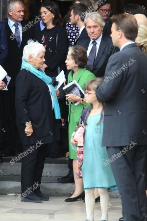 Judi Dench with Sir Peter Halls' former wife Leslie Caron