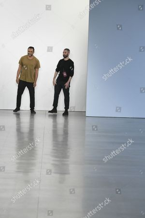 Ramon Martin and Ryan Lobo on the catwalk