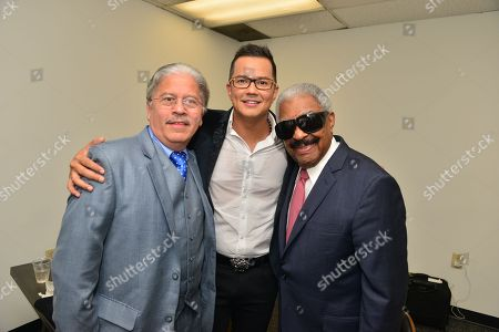 Stock Picture of Willie Sotelo, Rafael Thier and Charlie Zaa backstage at James L. Knight Center