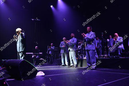 Editorial image of Rafael Thier, Charlie Zaa and Orquesta Adolescentes in concert, Miami, USA - 08 Sep 2018