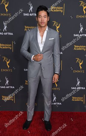 David Lim arrives at the 2018 Dynamic and Diverse Emmy Nominee Reception presented by the Television Academy, in North Hollywood, Calif