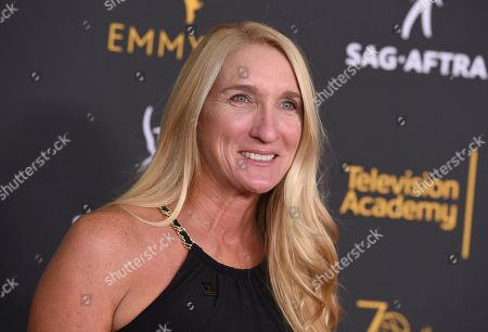 Jane Austin, SAG-AFTRA L.A. Local President, arrives at the 2018 Dynamic and Diverse Emmy Nominee Reception presented by the Television Academy, in North Hollywood, Calif
