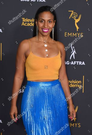 Chloe Arnold arrives at the 2018 Dynamic and Diverse Emmy Nominee Reception presented by the Television Academy, in North Hollywood, Calif