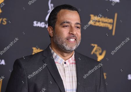 Anthony Mendez arrives at the 2018 Dynamic and Diverse Emmy Nominee Reception presented by the Television Academy, in North Hollywood, Calif