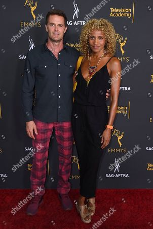 Garret Dillahunt, Michelle Hurd. Garret Dillahunt, left, and Michelle Hurd arrive at the 2018 Dynamic and Diverse Emmy Nominee Reception presented by the Television Academy, in North Hollywood, Calif