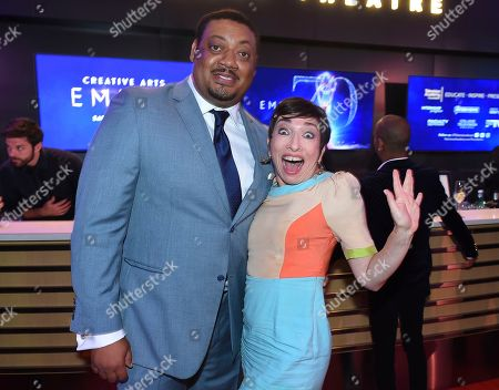 Cedric Yarbrough, Naomi Grossman. Cedric Yarbrough, left, and Naomi Grossman attend the 2018 Dynamic and Diverse Emmy Nominee Reception presented by the Television Academy, in North Hollywood, Calif