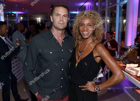 Garret Dillahunt, Michelle Hurd. Garret Dillahunt, left, and Michelle Hurd attend the 2018 Dynamic and Diverse Emmy Nominee Reception presented by the Television Academy, in North Hollywood, Calif