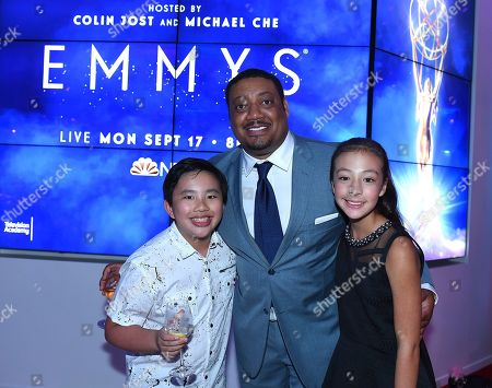 Albert Tsai, Cedric Yarbrough, Aubrey Anderson-Emmons. Albert Tsai, from left, Cedric Yarbrough and Aubrey Anderson-Emmons attend the 2018 Dynamic and Diverse Emmy Nominee Reception presented by the Television Academy, in North Hollywood, Calif