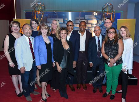 Ilyanne Morden Kichaven, Clyde Kusatsu, Heather Cochran, Jane Austin, Gabrielle Carteris, Hayma Washington, Jason George, Rickey Minor, Duncan Crabtree-Ireland, Nicole Marostica, Kathy Connell. Television Academy and SAG-AFTRA leadership Ilyanne Morden Kichaven, from left, Clyde Kusatsu, Heather Cochran, Heather Cochran, Jane Austin, Gabrielle Carteris, Hayma Washington, Jason George, Rickey Minor, Duncan Crabtree-Ireland, Nicole Marostica and Kathy Connell gather for a photo at the 2018 Dynamic and Diverse Emmy Nominee Reception presented by the Television Academy, in North Hollywood, Calif