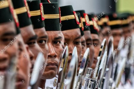 Editorial picture of Malaysian King Sultan Muhammad V attends Trooping of Colours ceremony, Putrajaya, Malaysia - 12 Sep 2018