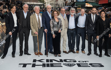 Stock Image of James Marsh, Jim Broadbent, Michael Gambon, Sir Michael Caine, Francesca Annis, Ray Winstone, Tom Courtenay, Paul Whitehouse, Charlie Cox and Jamie Cullum