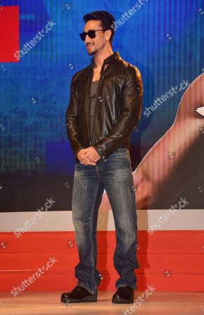 Indian film actor Tiger Shroff seen during the launch.