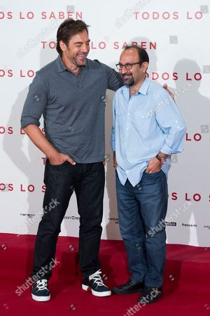 Javier Bardem and Asghar Farhadi