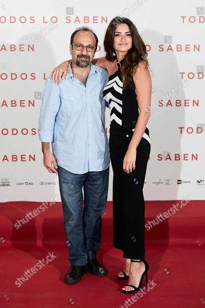 Stock Picture of Asghar Farhadi and Penelope Cruz