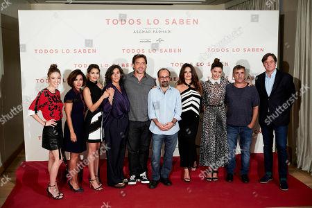 Editorial image of 'Todos Lo Saben' film photocall, Madrid, Spain - 12 Sep 2018