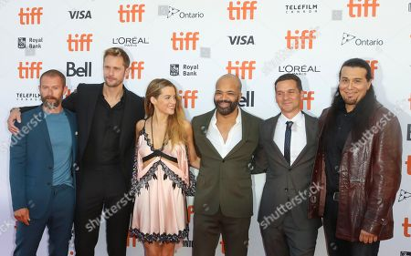 James Badge Dale, Alexander Skarsgard, Riley Keough, Jeffrey Wright, Jeremy Saulnier and Julian Black Antelope