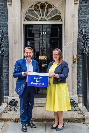 Andy Fletcher CEO Together for Short Lives and Kirsty Murray, Mother and ambassador of petition lliative strategy for England.