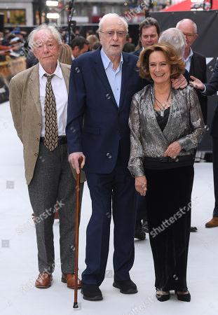 Michael Gambon, Sir Michael Caine and Francesca Annis