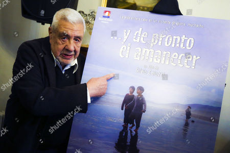 The Chilean actor Julio Jung poses with the poster of the film '...Y de pronto el amanecer', in which he participates, during an act in the Embassy of Spain, in Santiago, Chile, 12 September 2018. The film '...Y de pronto el amanecer' ('... and suddenly the dawn'), by director Silvio Caiozzi, will represent Chile in the next edition of the Oscar awards, announced today the Chilean Minister of Cultures Consuelo Valdes. The film, starring Julio Jung and Sergio Hernandez, will seek to stand as the best non-English speaking film during the 91st edition of the Oscars, an award that this year took the Chilean film 'A fantastic woman' by Sebastian Lelio.