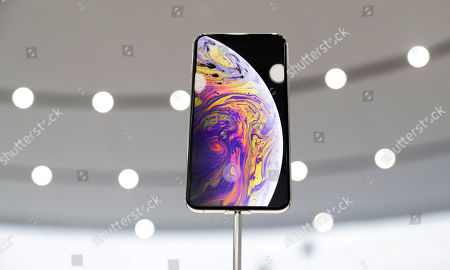 The new Apple iPhone XS Max is on display at the Steve Jobs Theater after an event to announce new products, in Cupertino, Calif