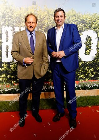 Alexander Graf Lambsdorff (FDP), member of German Bundestag, and Secretary General of the German Social Democratic Party (SPD) Lars Klingbeil (R) on the red carpet of the 'BILD100 summer party' event in Berlin, Germany, 12 September 2018. 100 of the most important decision-makers from politics and business as well as well-known personalities from sports, art and culture are expected at the event held by Germany's highest-circulation newspaper BILD.