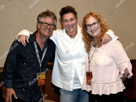 Americana Executive Director Jed Hilly, Singer/Songwriter KD Lang and Ann Powers of NPR