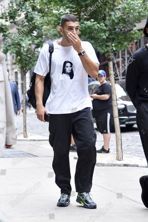 Editorial picture of Exclusive - Younes Bendjima out and about, New York Fashion Week, USA - 12 Sep 2018