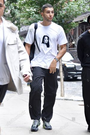 Editorial photo of Exclusive - Younes Bendjima out and about, New York Fashion Week, USA - 12 Sep 2018