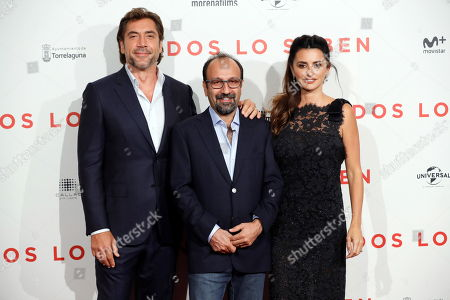 Editorial photo of 'Everybody Knows' premiere in Madrid, Spain - 12 Sep 2018