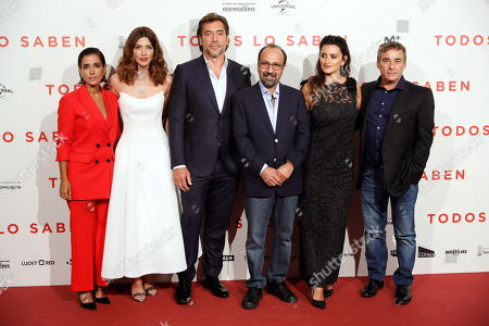 Editorial picture of 'Everybody Knows' premiere in Madrid, Spain - 12 Sep 2018
