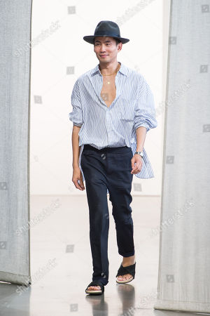 Stock Picture of Han Chong on the catwalk