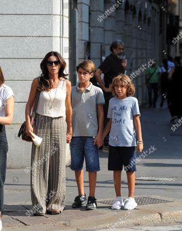 Emanuela Folliero and son Andrea