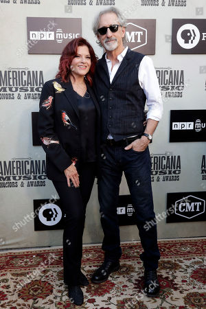 Rosanne Cash and John Leventhal arrive at the Americana Honors and Awards show, in Nashville, Tenn