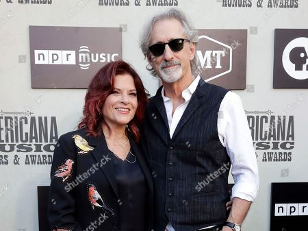 Stock Image of Rosanne Cash and John Leventhal arrive at the Americana Honors and Awards show, in Nashville, Tenn